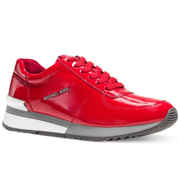 Michael Kors Sneaker Red Patent Leather